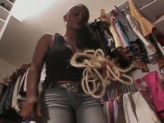 Untidy latex dreams for hot ebony chick
