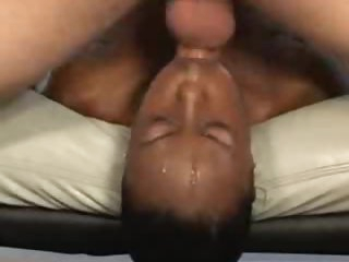Untidy face fuck coupled with gagging with black girl